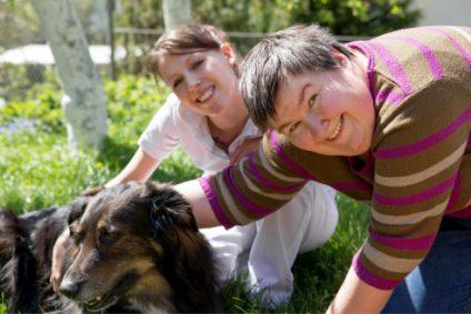 man-with-dog-in-schoolyard